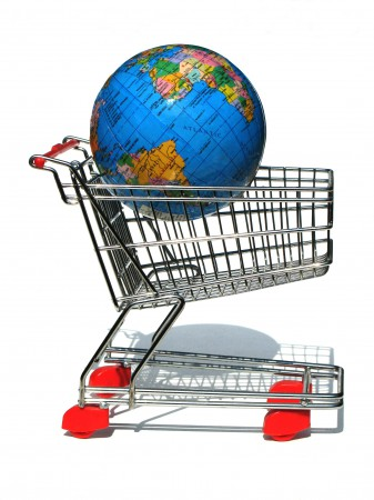 Globe in a shopping cart